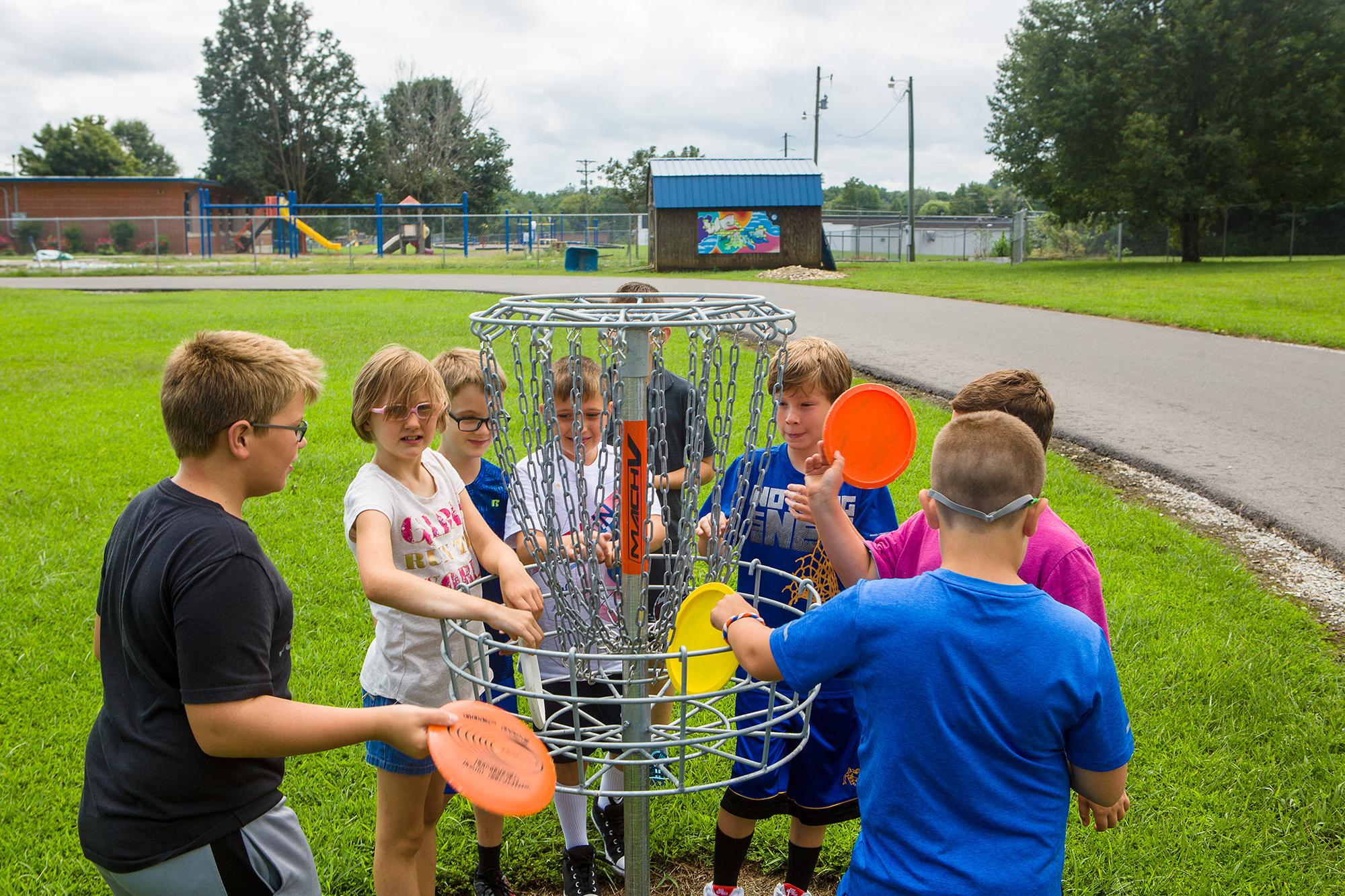The Clinton County Extension Service used CDC funding To help purchase frisbee golf equipment FOr the elementary school in Clinton County.