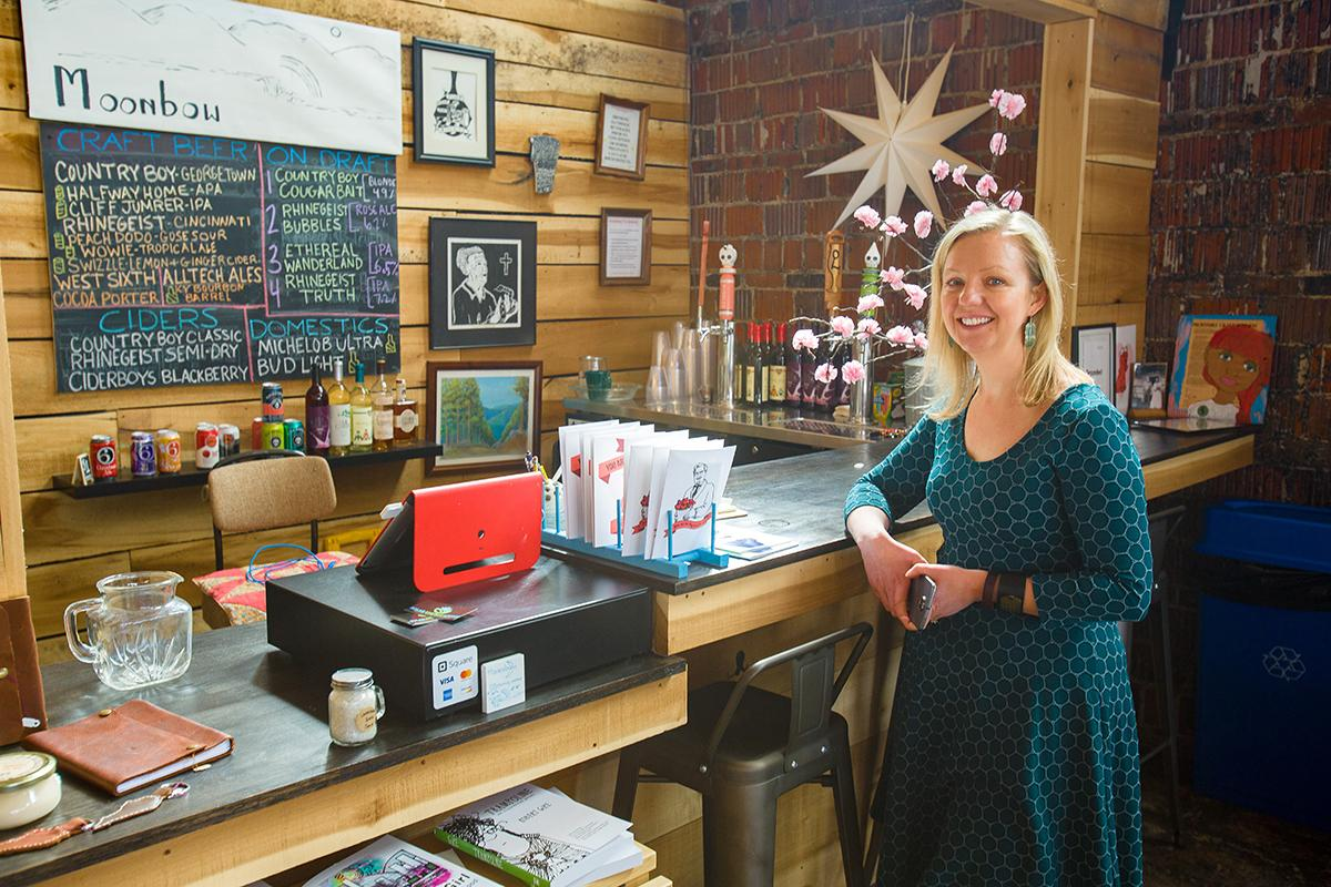 CEDIK's Sky Marietta at her business, Moonbow, where she is showing women that starting and running their own enterprise is possible.