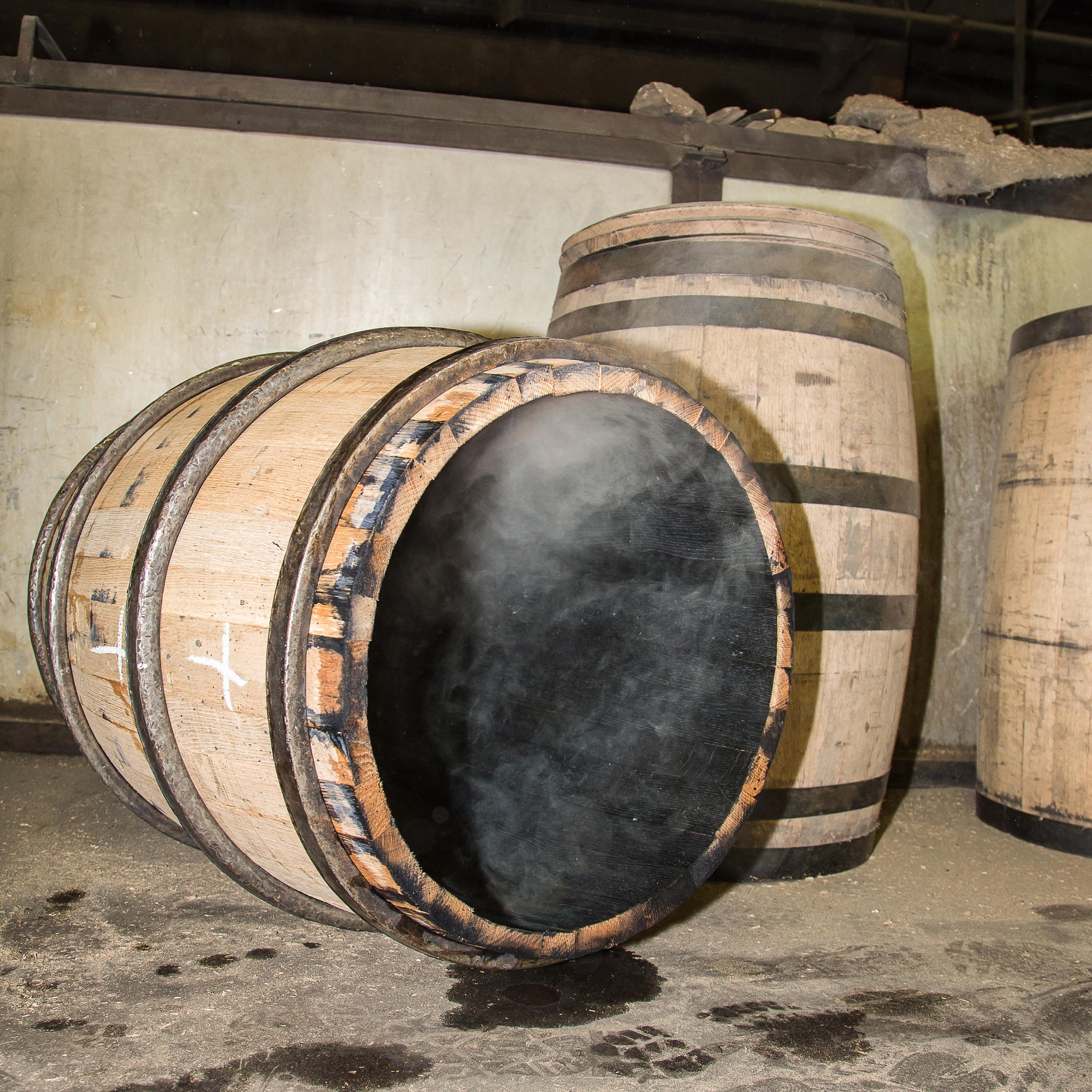 Used barrels from Kentucky bourbon distilleries